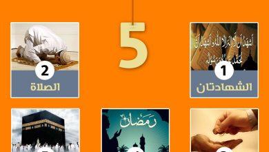 ملصق أركان الإسلام الخمسة للأطفال